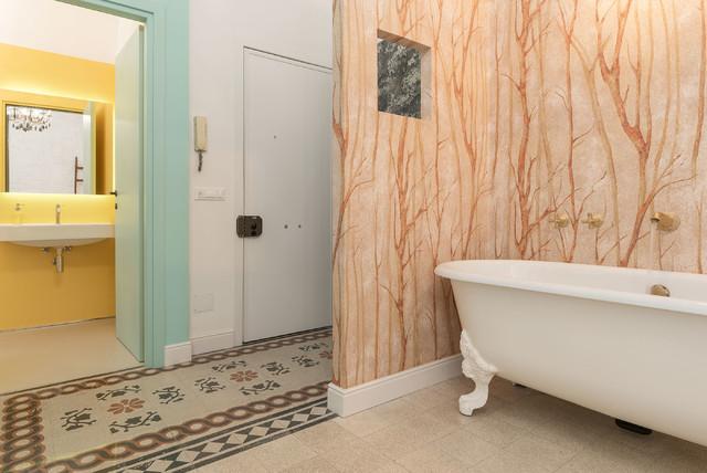 Vasca Da Bagno Zampe Di Leone : Interni da favola eclettico stanza da bagno roma di