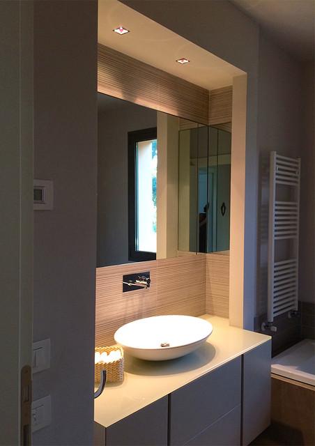 lavabo in nicchia del bagno padronale