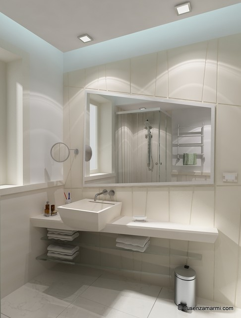 Marble Bathroom design - Arredo bagno in marmo contemporary-bathroom