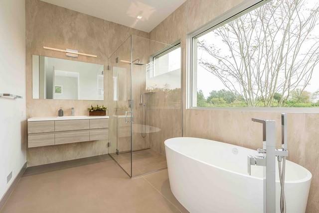 Private villa in the hamptons contemporaneo stanza da bagno