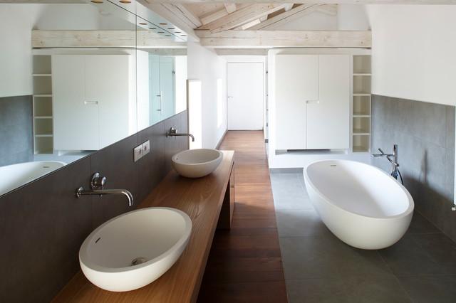Bagno Casa Di Campagna : Recupero di una casa di campagna contemporaneo stanza da bagno