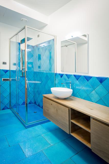 Foto di una stanza da bagno costiera