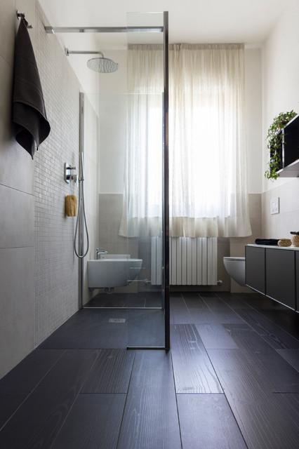 Stanza da bagno ad 10 mq contemporaneo stanza da for Arredare stanza studio
