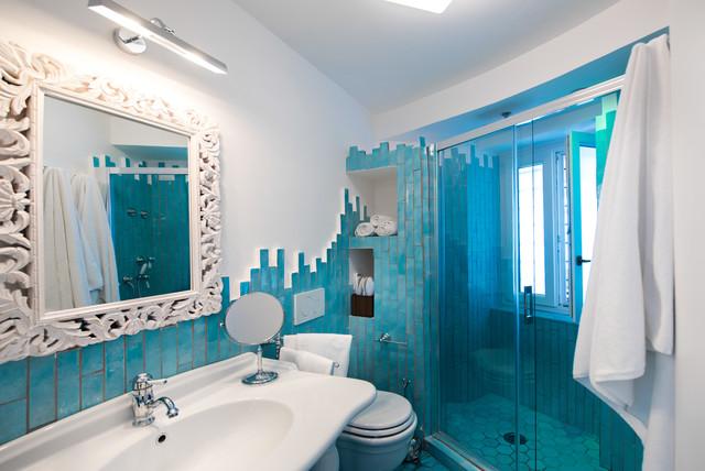 Torre trasita positano bagno azzurro al mare stanza da bagno