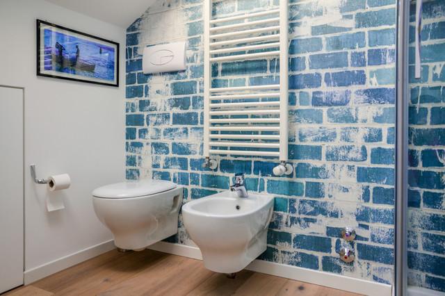 Un bagno shabby country contemporaneo stanza da bagno milano