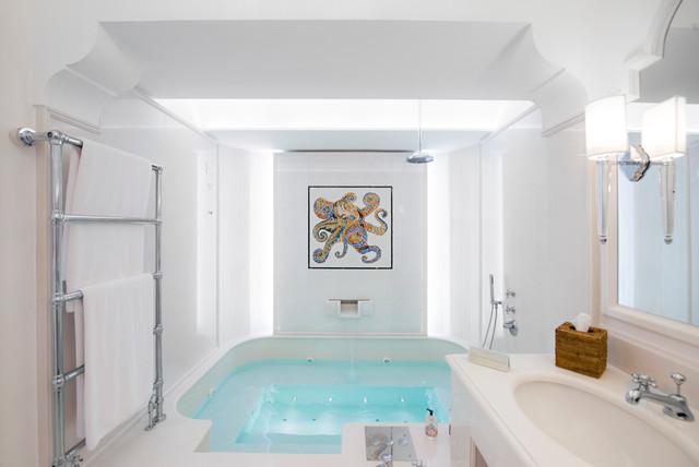 Villa Tre Ville Positano - Bagno Vasca idromassaggio - Mediterraneo ...