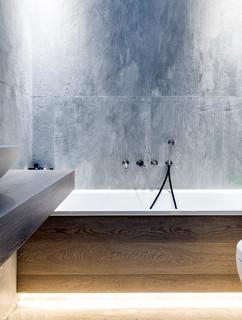 75 Badezimmer Mit Steinplatten Und Gebeiztem Holzboden Ideen Bilder Februar 2021 Houzz De