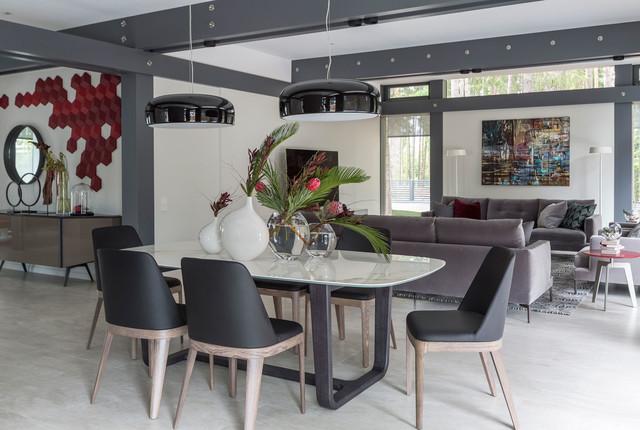Sala Da Pranzo Contemporanea : Eccellente tavolo sala da pranzo tavoli in vetro moderni relatex