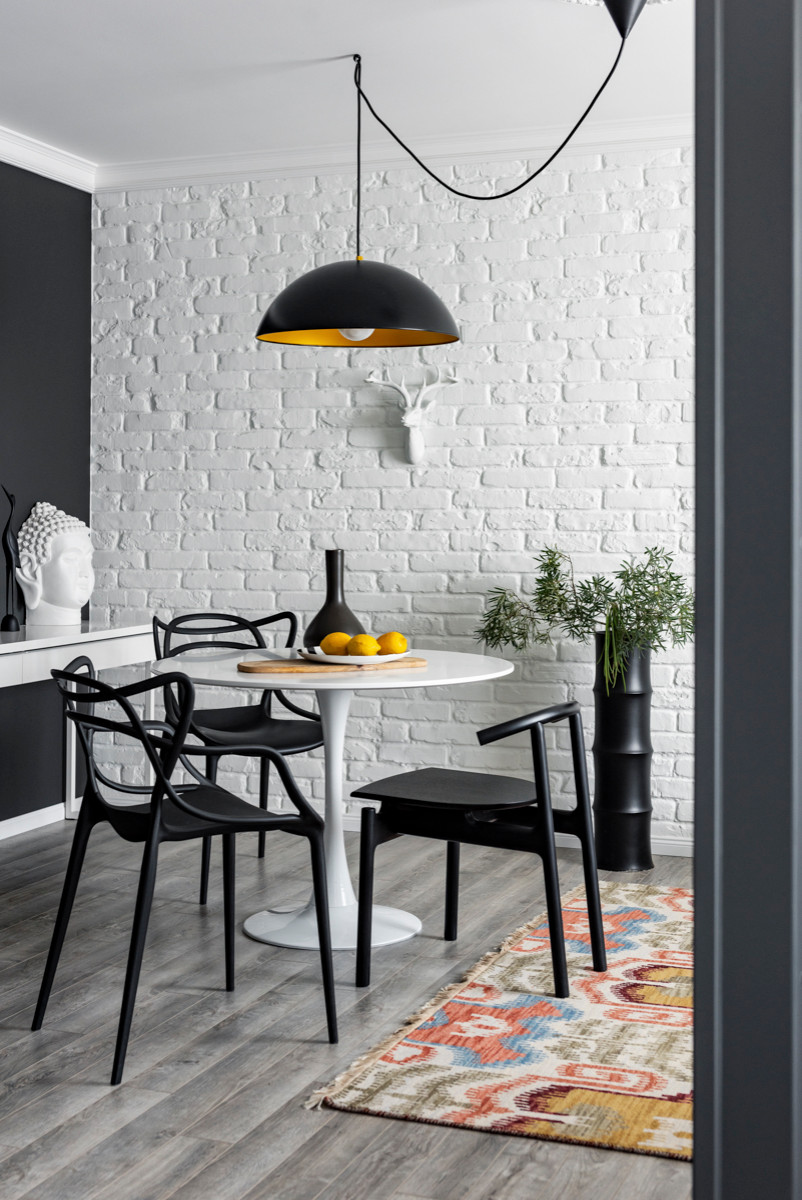 75 Beautiful Brick Wall Dining Room Pictures Ideas February 2021 Houzz