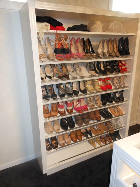 Shoe Tower - Traditional - Closet - Melbourne - by Planera Joinery