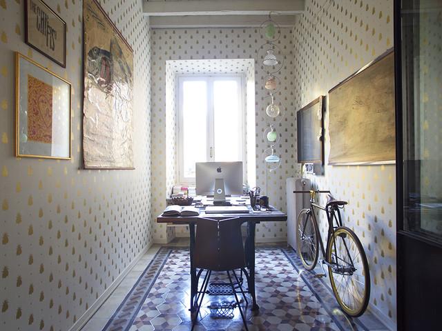 Urban Chic Carta Da Parati Industrial Chic.Ristrutturazione Appartamento Milano Industrial Home Office