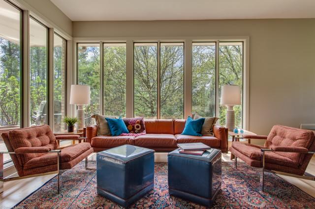 1960u0027s Mid Century Ranch Remodel, Nashville, TN Contemporary Sunroom