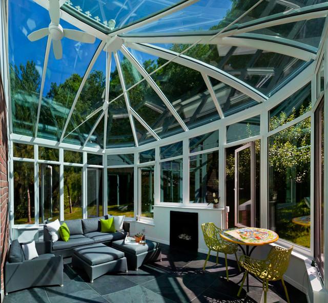 A Conservatory with a Modern Twist modern-sunroom