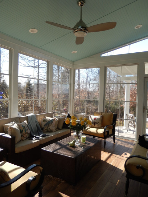 All Season Porch In Stokesdale Nc Using Eze Breeze Windows Traditional Sunroom Raleigh By Archadeck Piedmont Triad