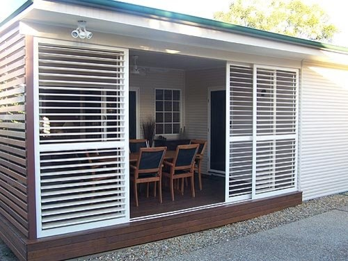 Aluminum Shutters Traditional Sunroom San Diego By
