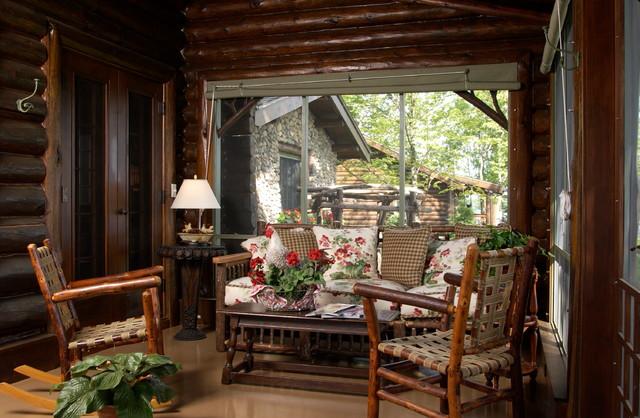 Bay Lake Cabin Rustic Porch Minneapolis By Albertsson Hansen Architecture Ltd