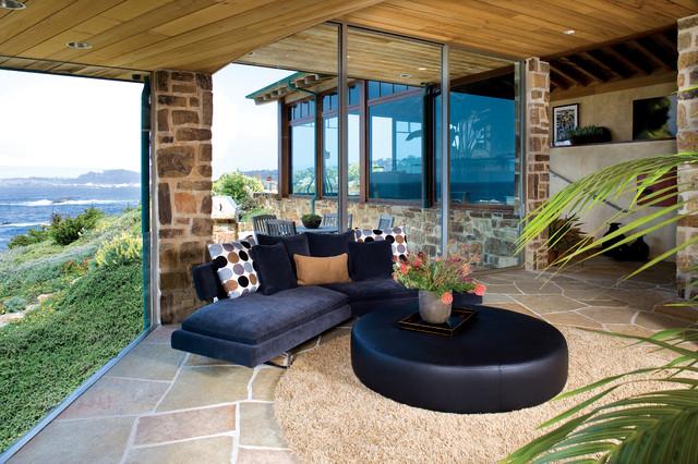 Bennett  Residence - Carmel ca. beach-style-hall