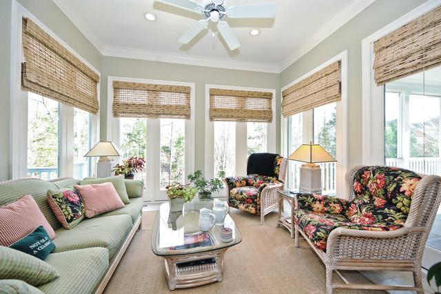 Brick Transitional traditional-sunroom