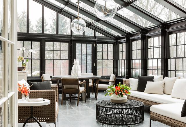 Brookline Residence - Klassisk - Udestue - Boston - af Elms Interior ...