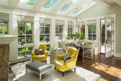 Transitional Sunroom by Minneapolis Interior Designers & Decorators Martha O'Hara Interiors