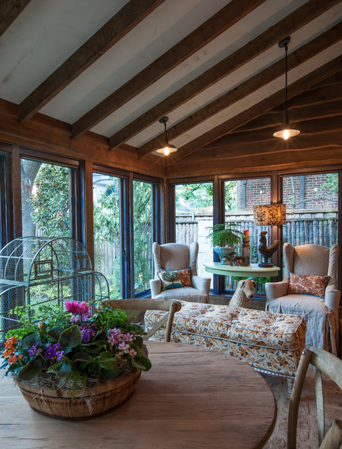 Caruth Home - Fall 2012/Winter 2013 rustic-sunroom
