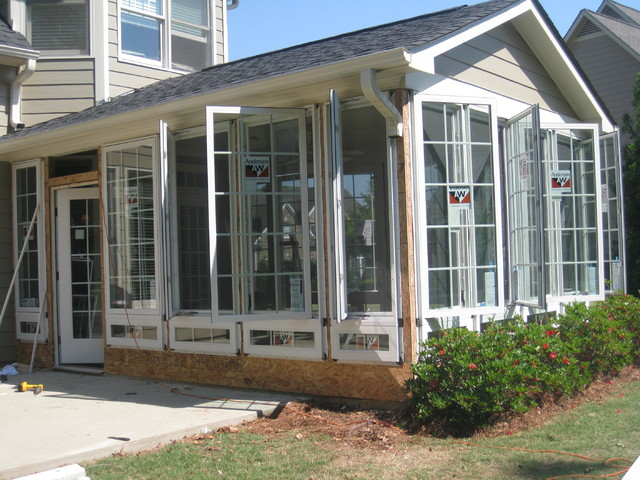 Casement Windows In A Sunroom Traditional Sunroom