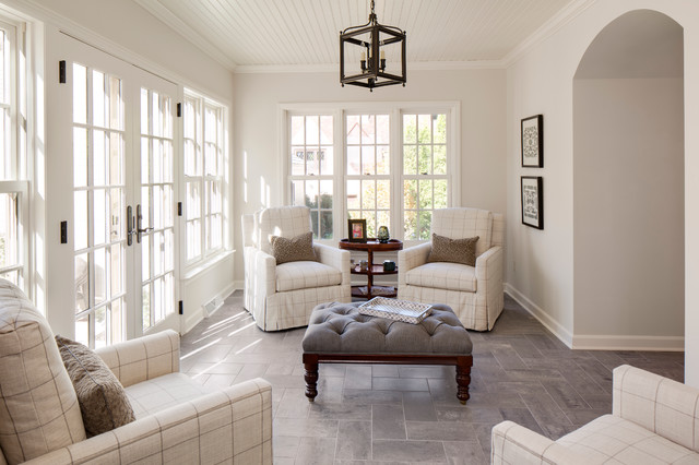 Classic 1940s whole house remodel traditional sunroom for 1940s window treatments