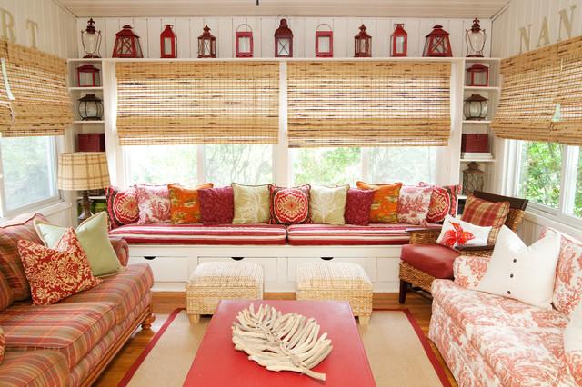 Coastal family room beach-style-sunroom