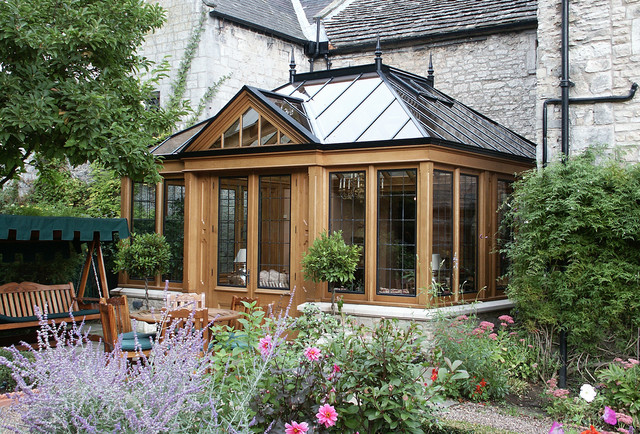 Conservatory with a natural finish victorian sunroom for Victorian sunroom designs