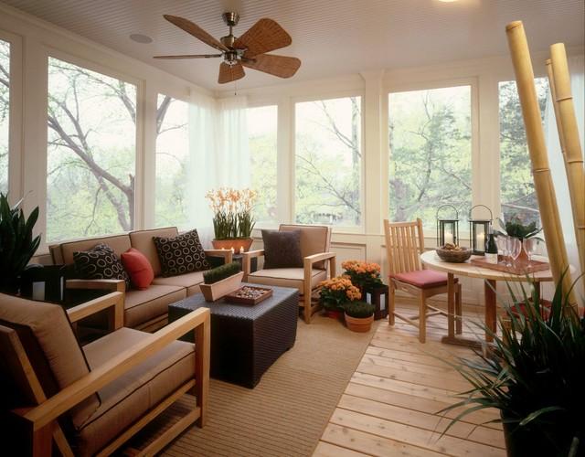 Contemporary sun porch contemporary sunroom - Decoracion estilo mediterraneo ...