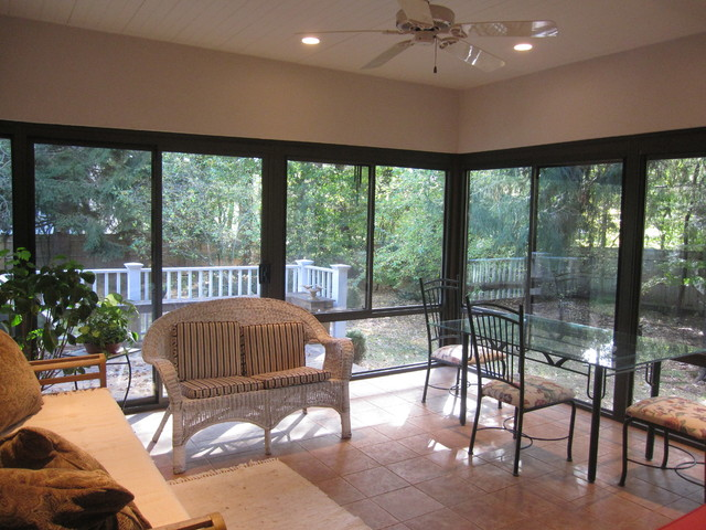 Converted Rarely Used Screen Porch To Year Round Room