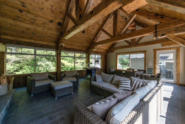 Cottage country sunrooms rustic sunroom other metro for Rustic sunrooms
