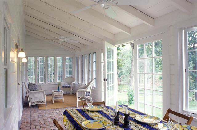 Charming Crisp Architects Farmhouse Sunroom