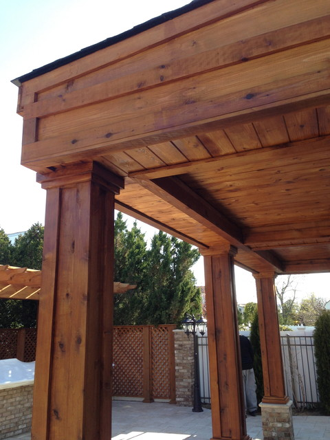 Custom cedar sun room for Cedar sunroom