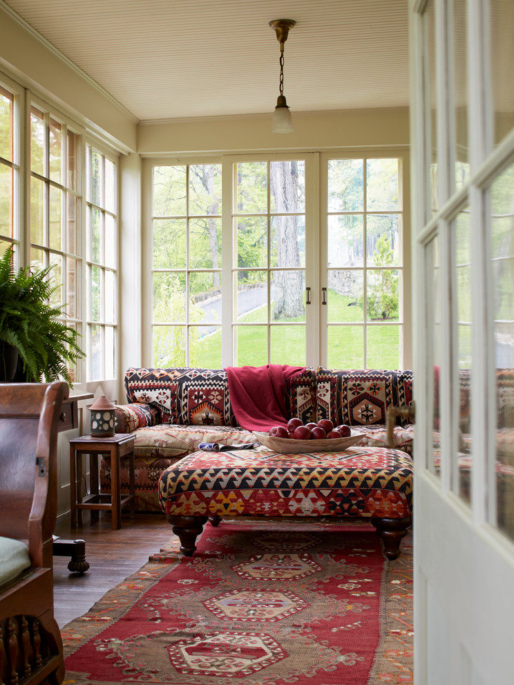 Example of an ornate sunroom design in New York
