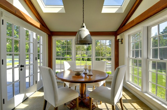 East Hampton Barn Homes traditional-dining-room