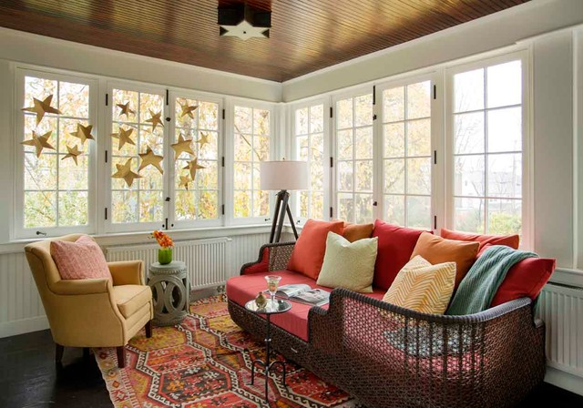 Eclectic Sunroom Boston Eclectic Colonial eclectic-sunroom