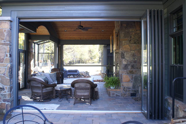 Folding Glass Doors - Opened craftsman-sunroom & Folding Glass Doors - Opened - Craftsman - Sunroom - Detroit - by ...