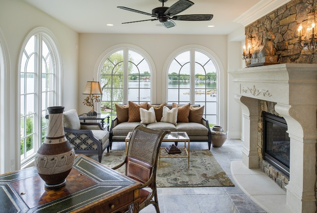 French Country On Prior Lake Traditional Sunroom