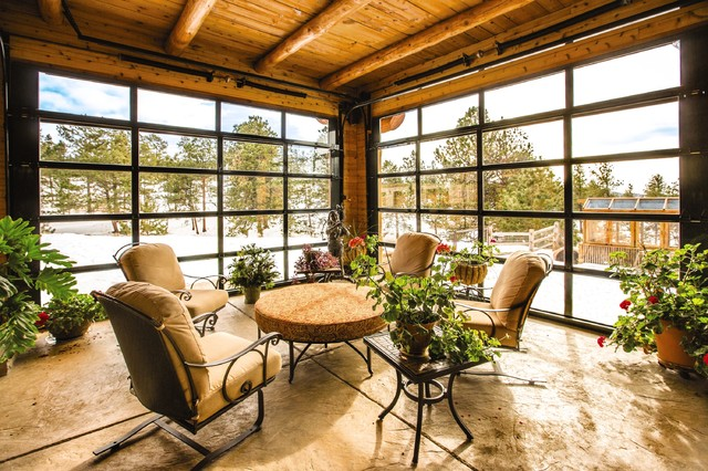Glass Aluminum Doors On Mountain Home In Colorado Springs