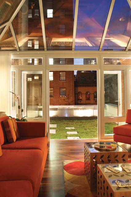 Gleicher's Eco-Friendly Townhouse contemporary-living-room