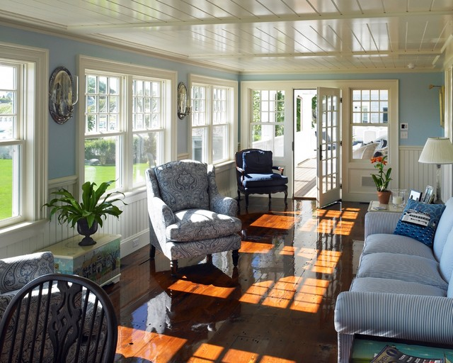 Harbor Restoration Beach Style Sunroom Other Metro