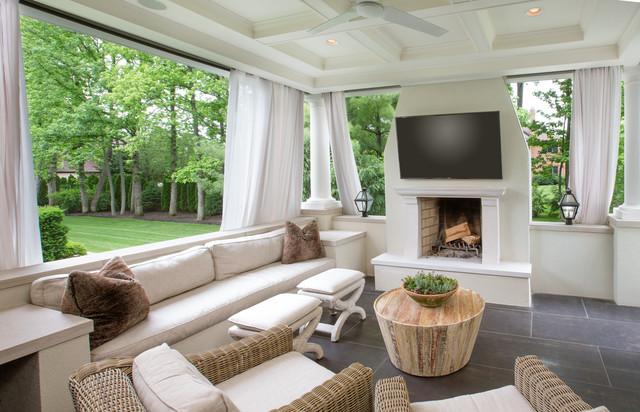 Indoor Outdoor Lounge Addition Industrial Wintergarten