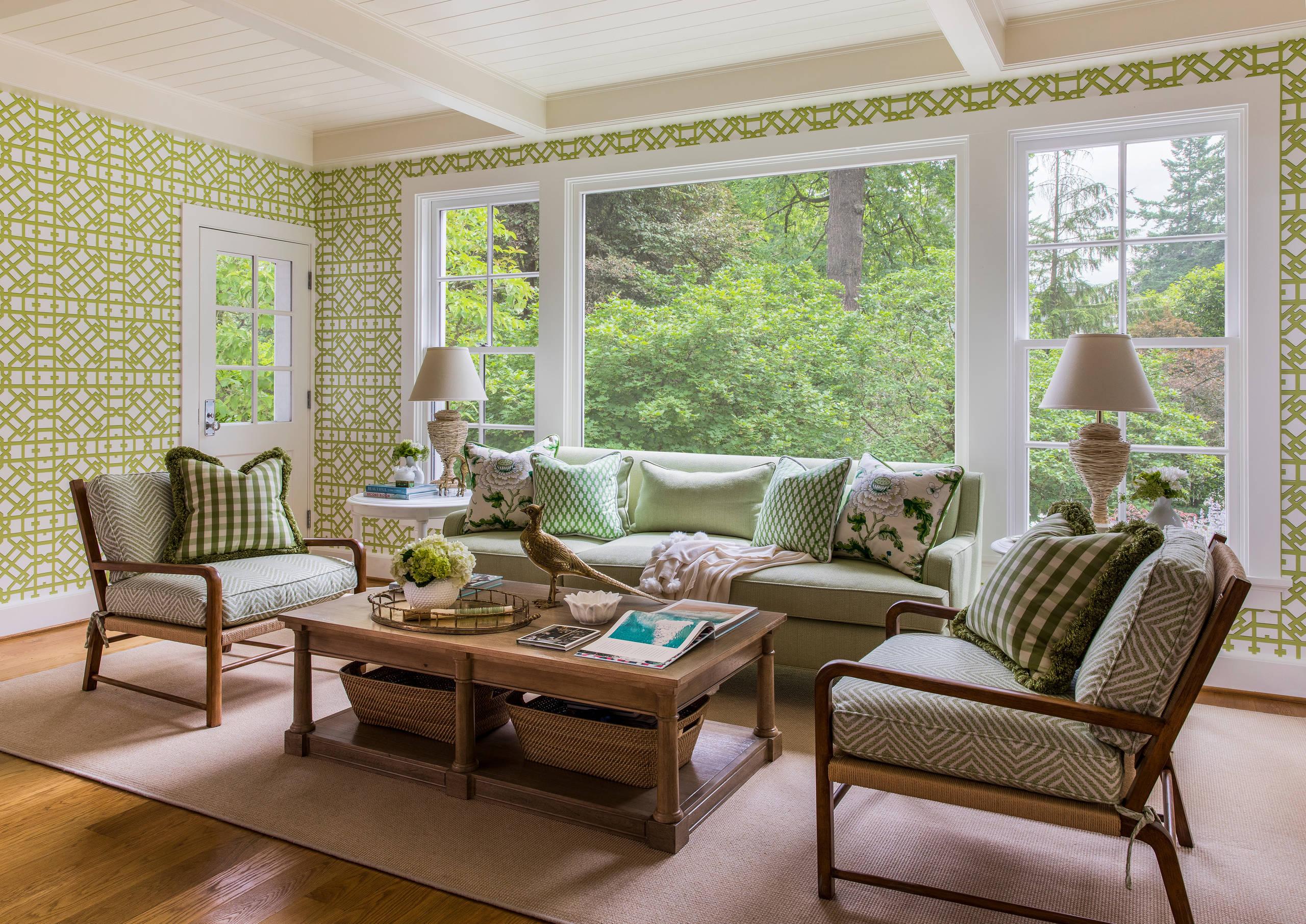 26 Beautiful Green Light Wood Floor Sunroom Pictures & Ideas