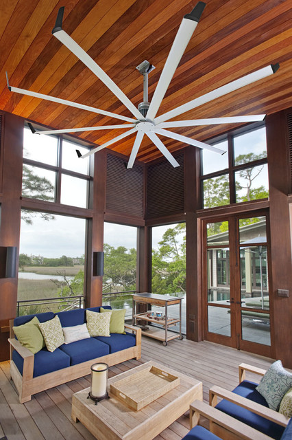 Isis Ceiling Fan Contemporary Sunroom Louisville