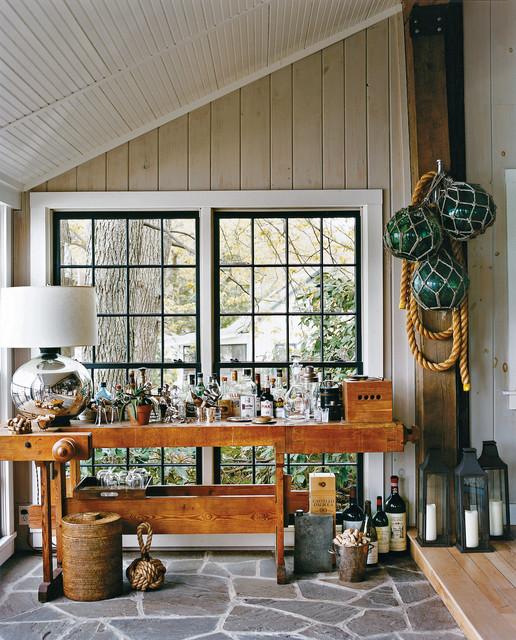Home Bar Design Ideas Houzz: Lake House