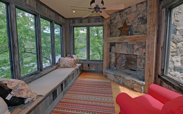 Lake Rabun Custom Homes rustic-sunroom