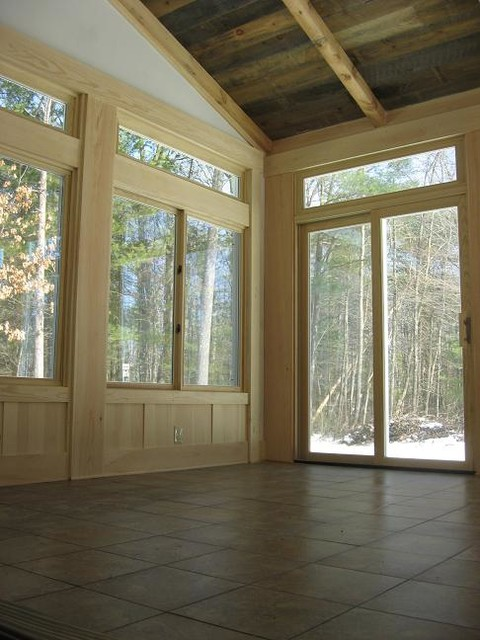 Large Sunroom Rustic Conservatory Boston By
