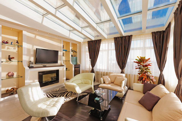 LIVING ROOM Window Treatments Modern Sunroom Denver By Windows Dresse