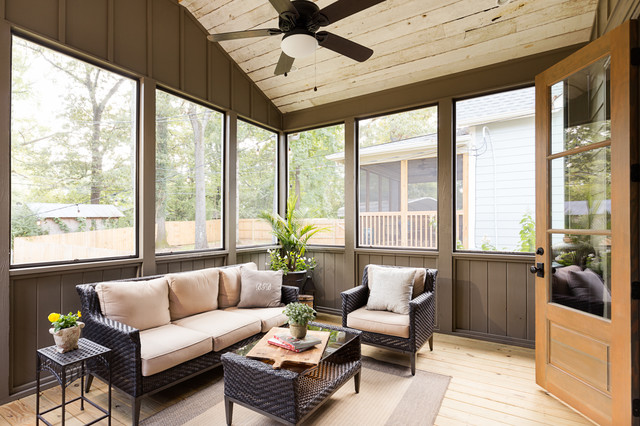 Modern Rustic Renovation Rustic Sunroom Birmingham